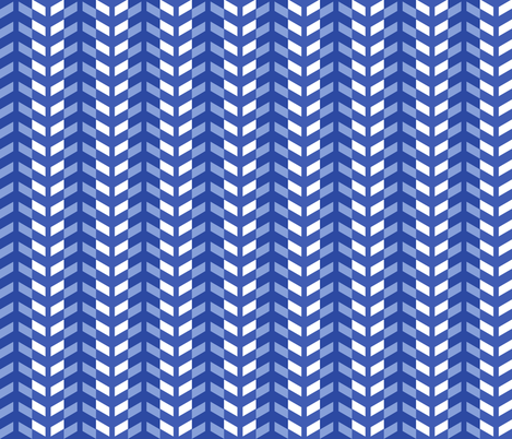 Arrows in blue fabric by little_fish on Spoonflower - custom fabric