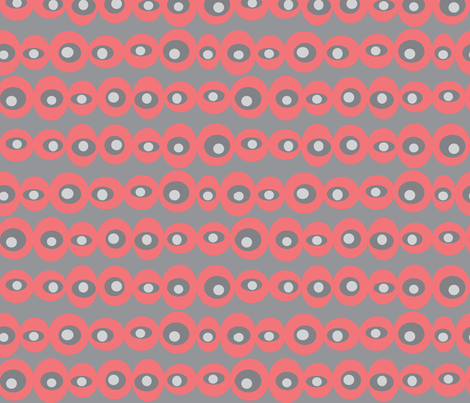 dotty coral fabric by jenr8 on Spoonflower - custom fabric