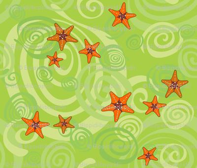 Spiralling starfish