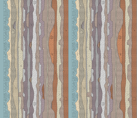 A Journey Underneath (Medium) fabric by murex_textile_designs on Spoonflower - custom fabric