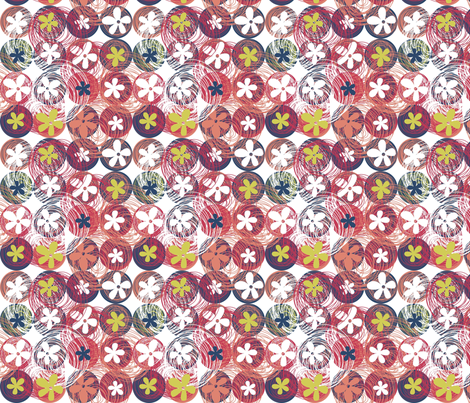 flowers and doodles fabric by anastasiia-ku on Spoonflower - custom fabric