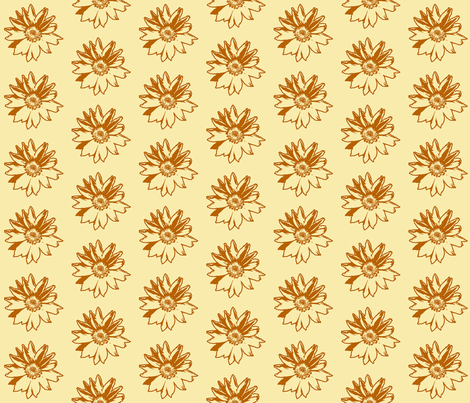 Sunflower2 Sketch fabric by koalalady on Spoonflower - custom fabric