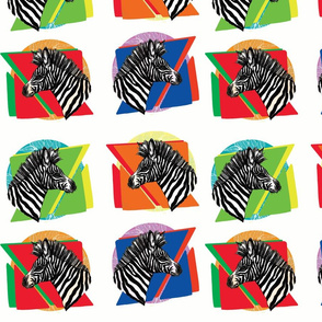 z is for zebra white background