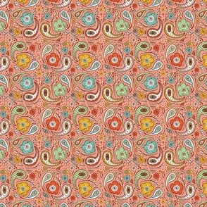 Adora Paisley - Ditsy Scale Option Coral