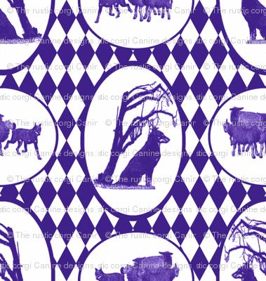 Beauceron Toile - purple