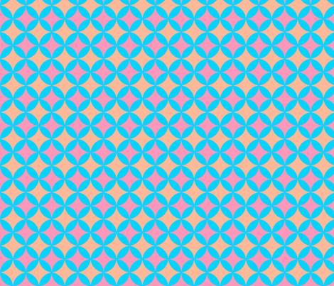 MysterySpot in PinkBlueOrange fabric by jennysquawk on Spoonflower - custom fabric
