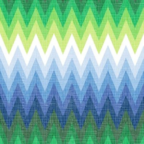 Ombre Zig Zag Blue + Green