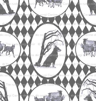 Beauceron Toile - pewter