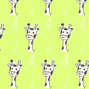 gerard the giraffe on limegreen