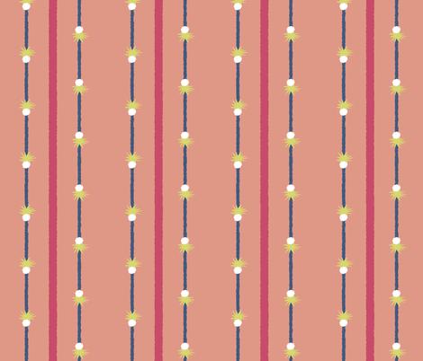 matisse pineapple stripe 7 fabric by mojiarts on Spoonflower - custom fabric