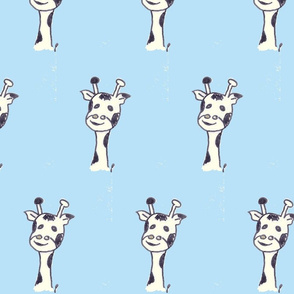 gerard the giraffe on babyblue