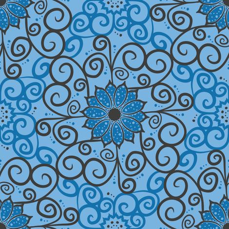 Polka Floral Damask (Light) fabric by robyriker on Spoonflower - custom fabric