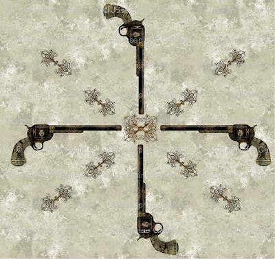 Victorian Pistol brown-gray background
