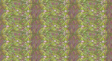Purple Crocus Floral fabric by wren_leyland on Spoonflower - custom fabric