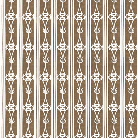 Diamond Stripe - brown & white fabric by materialsgirl on Spoonflower - custom fabric