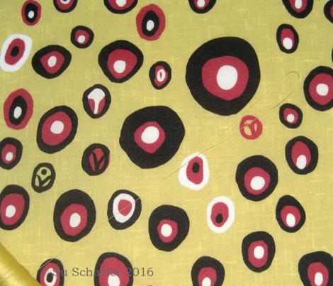 Dotty spots on linen weave
