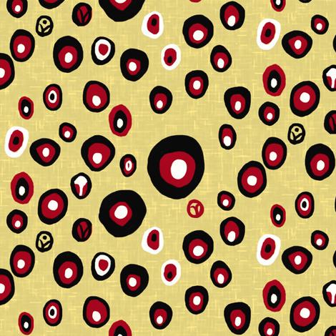 Dotty spots on linen weave fabric by su_g on Spoonflower - custom fabric