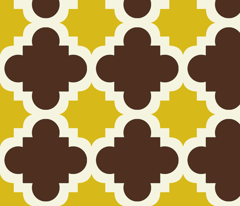 burst brown and mustard fabric by mytinystar on Spoonflower - custom fabric