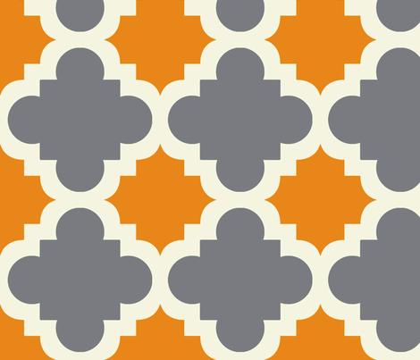 burst grey and pumpkin fabric by mytinystar on Spoonflower - custom fabric