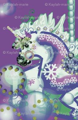 CAROUSEL FANTASY UNICORN PURPLE/BLUE   by Kaylah Marie