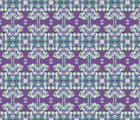 CAROUSEL FANTASY UNICORN PURPLE/BLUE   by Kaylah Marie fabric by kaylah-marie on Spoonflower - custom fabric