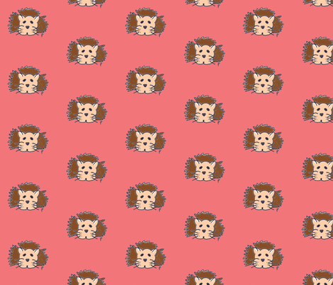 lewis the lion on strawberry fabric by poppygoeshappy on Spoonflower - custom fabric