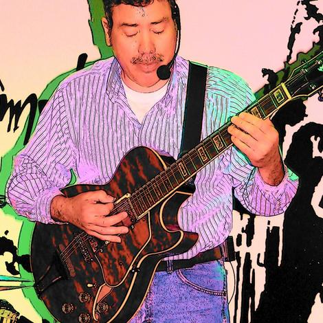"""GUITAR MAN""  by Kaylah Marie fabric by kaylah-marie on Spoonflower - custom fabric"