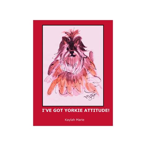 YORKIE ATTITUDE  by  Kaylah Marie fabric by kaylah-marie on Spoonflower - custom fabric
