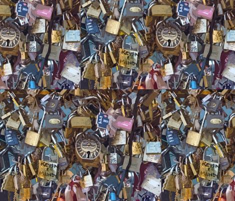 Love Locks Paris - variation 2 fabric by susaninparis on Spoonflower - custom fabric