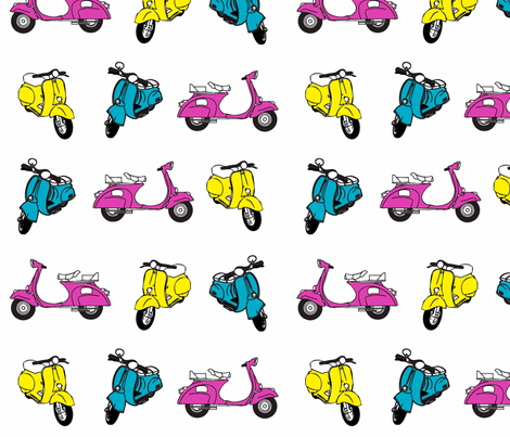 Scooters fabric by designedtoat on Spoonflower - custom fabric