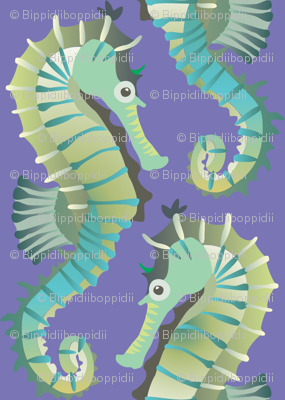 Seahorses on parade (lavender)