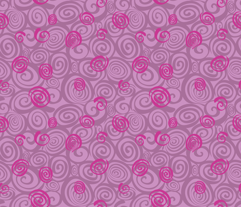 A spiralling fishy tail (lavender) fabric by bippidiiboppidii on Spoonflower - custom fabric