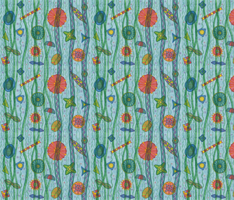 Algae fabric by greenvironment on Spoonflower - custom fabric