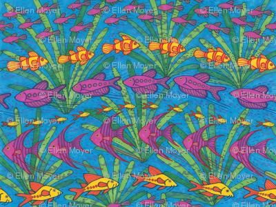 Fish on a Dark Blue Background