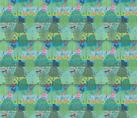 Forest fabric by greenvironment on Spoonflower - custom fabric