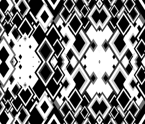 Metric silver/ Blk fabric by nascustomlife on Spoonflower - custom fabric