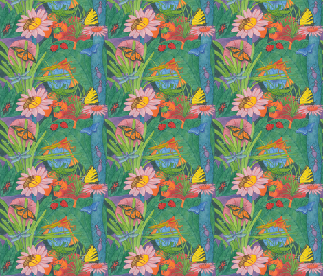 Insects fabric by greenvironment on Spoonflower - custom fabric