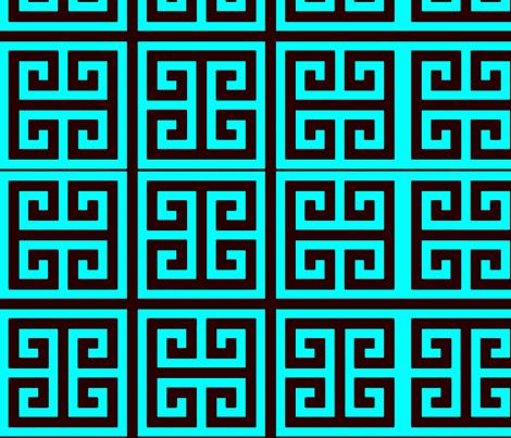 greek turquoise fabric by nascustomlife on Spoonflower - custom fabric