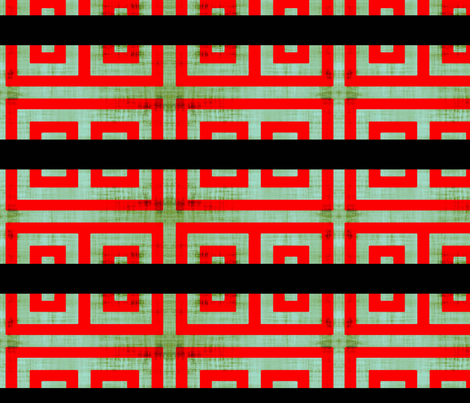 red Greek /Blk line fabric by nascustomlife on Spoonflower - custom fabric