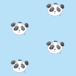 preston the panda on sky-blue