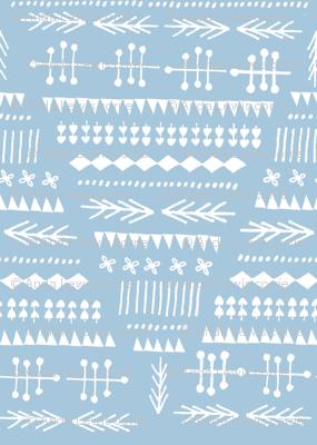 Winter of 2012 - blue & white
