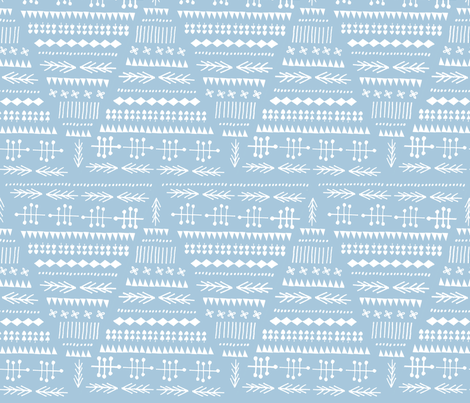 Winter of 2012 - blue & white fabric by anda on Spoonflower - custom fabric