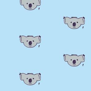 karl the koala on baby blue