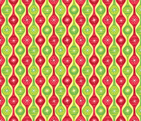Festive Ornaments fabric by robyriker on Spoonflower - custom fabric