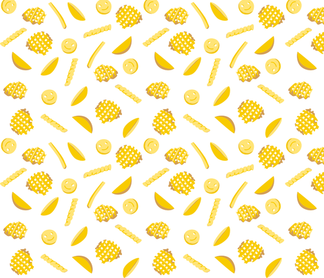 frites fabric by annaboo on Spoonflower - custom fabric