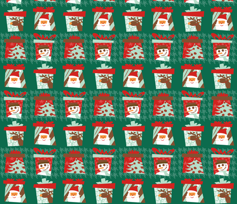 Christmas presents fabric by lauralvarez on Spoonflower - custom fabric