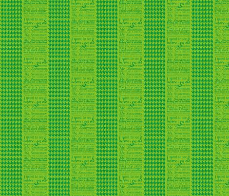 Mr Snowman Green fabric by lauralvarez on Spoonflower - custom fabric