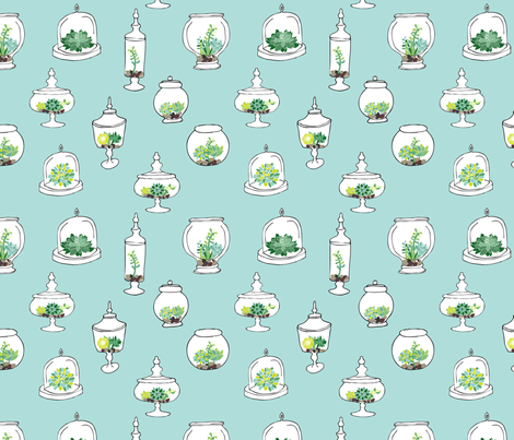 Little Terrariums fabric by emilyannstudio on Spoonflower - custom fabric
