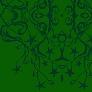 swirls_and_stars_kaleidoscope_Greeny_green