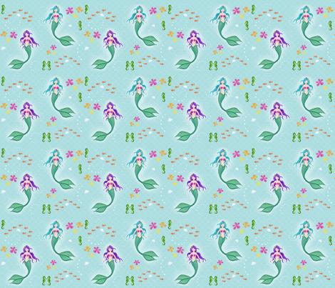 Sea Shanties: Mermaids fabric by bakercourt on Spoonflower - custom fabric